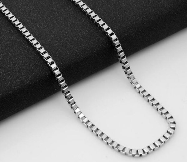 Stainless steel necklace, titanium steel chain, box chain, DIY accessories, European and American men's and children's jewelry WL490