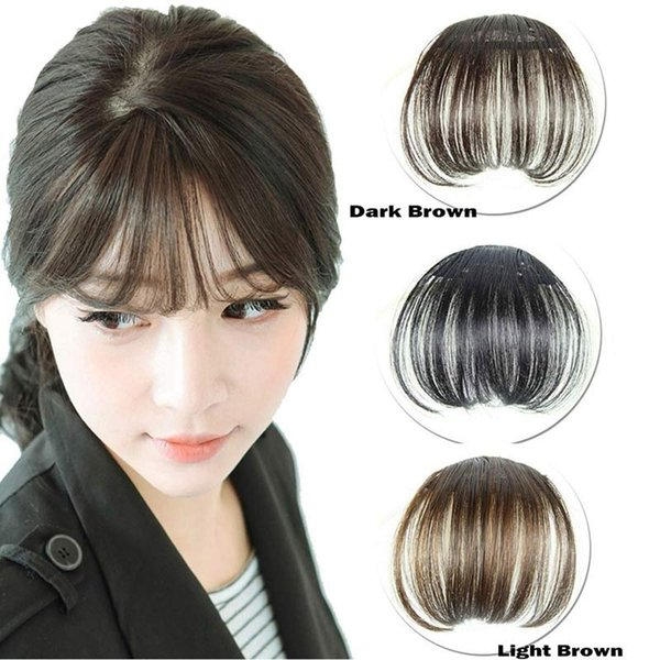 New Hot Women Clip Bangs Hair Extension Fringe Hairpieces False Synthetic Hair Clips Front Neat Bang 998 For Styling