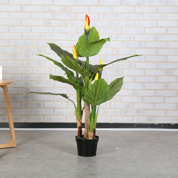 2019 Large Greenery Pot Plant 130cm 4 Stems Green Princess Tree Artificial  Plants Indoor Living Room Large Fake Plants Fake Tree From Hibooth, $144.79  ...