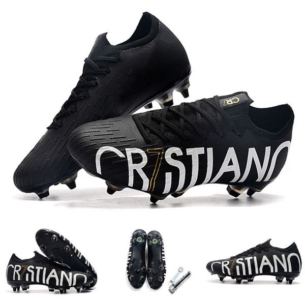 2019 New Superfly 7 Elite SE FG Mens Soccer shoes Outdoor CR7 Soccer Cleats Neymar Youth Football boots Vapors 13 Elite FG