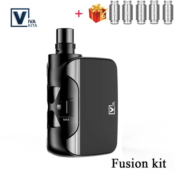 Gift coils VivaKita vape Fusion 50W kit built in 1500mAh battery Electronic Cigarette Starter Kit 2ml Three-level Power Display