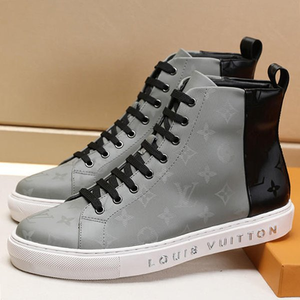 best selling Mens Shoes Tattoo Sneaker Boot with Box Flats Trainers Ankle Boots Luxury Men Shoes Casual Chaussures pour hommes Winter Leather Booties