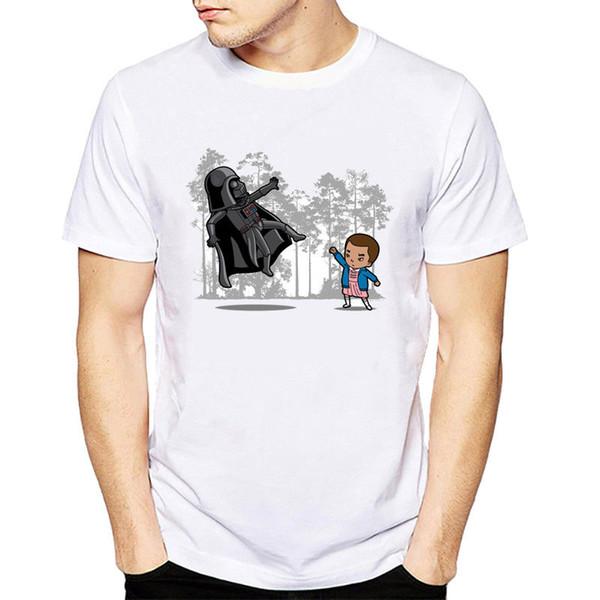 Vagary Tees Kısa Kollu Stranger Şeyler Tee Gömlek t gömlek takım şapka pembe tişört