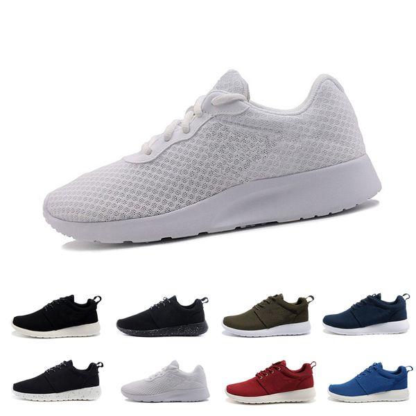 Classic Run Shoes tanjun negro blanco hombre mujer zapatos para correr London Olympic Runs al aire libre para hombre deporte zapato entrenador zapatillas de deporte tamaño 36-44