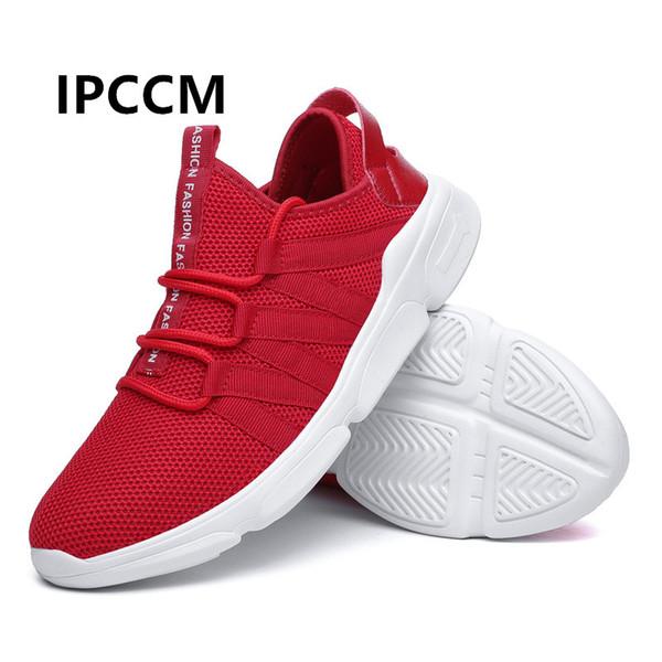 IPCCM Marque 2018Spring Automne Nouvelle Couleur Unie Net Mocassins Surface Respirant Mode Hommes Lumière Couple Chaussures Grande taille 39-48