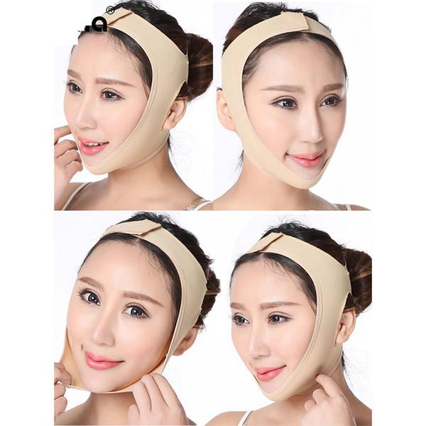 Narin Yüz İnce Yüz Zayıflama Bandaj Cilt Bakımı Kemer Şekli Maske Ve Çift Çene Yüz Yüz İnceltme Band Maske azaltın kaldırın
