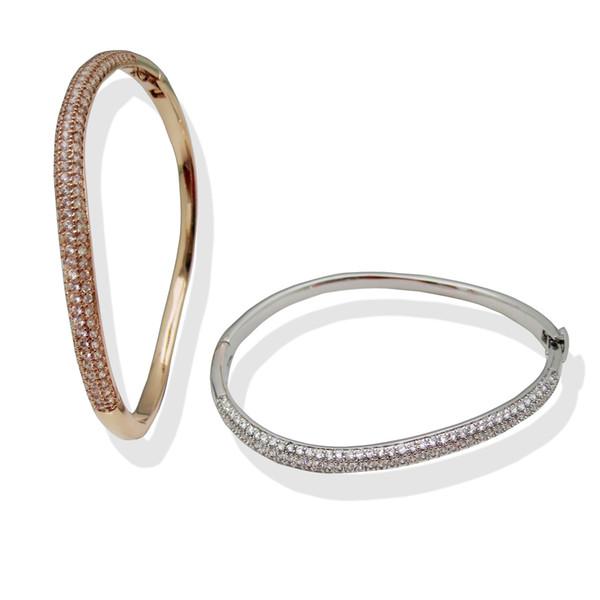Bracelets De Luxe Bracelet Bracelet Hommes En Laiton Magnifiquement Plaqué Argent Rose Bracelet En Or Pour Femmes Bracelet Bracelets Bijoux Titanium Amant Amour Bracelet