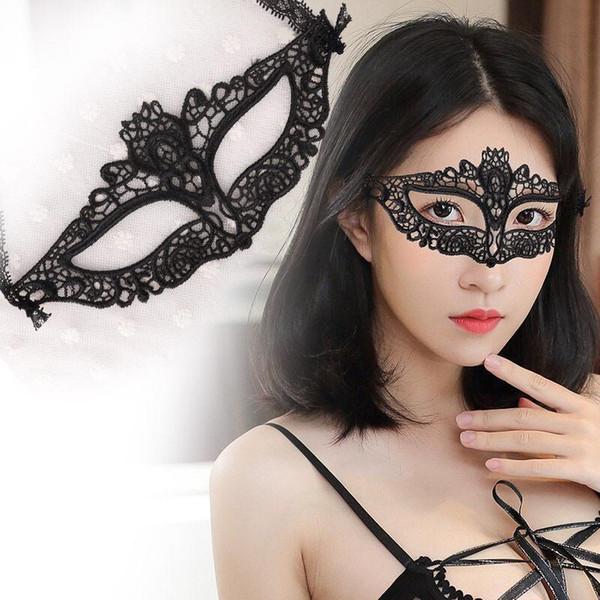Preto Oco Out Máscaras de Olho Moda Sexy Lady Máscara de Renda Máscara de Disfarce Colorido Halloween Venetian Mardi Partido Traje 42 Estilo BC BH1351