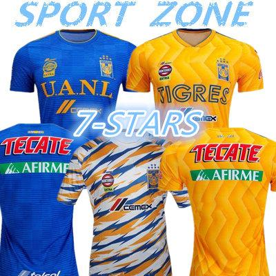 2019 2020 Tigres UANL soccer jersey 19 20 Mexico club Tigers 7 Stars GIGNAC Vargas H. Ayala SOSA away blue kits football shirts