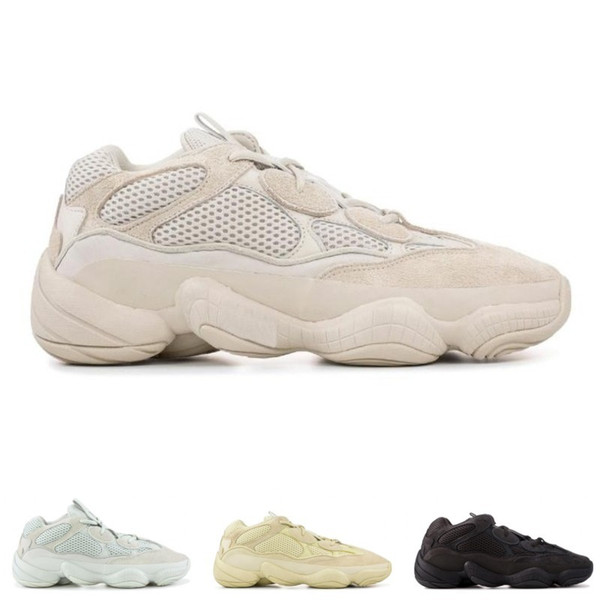 Salt Desert Rat 500 Running Shoes Supper Moon Yellow Black Blush 2019 Designer Shoe Mens Womens Sneakers Trainers Cow Leather 3M Reflective