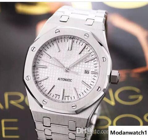 Роскошные Мужские автоматические часы Clone Мужчины Полный стали Водонепроницаемые часы 15400