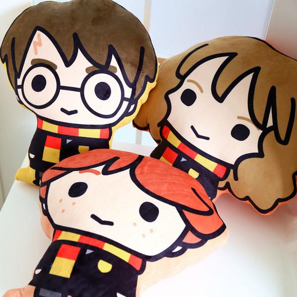 Compre Niños Cute Harry Potter Cartoon Peluche De Felpa Harry Potter Hermione Ron 3 Estilos Patrón De Felpa Almohada Niños Toy Doll A 10 06 Del
