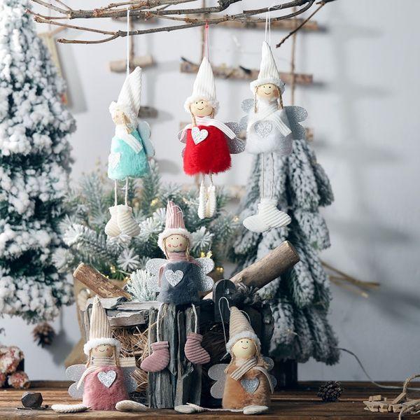 Christmas Decorations Plush Angel Pendant Home Party Xmas Innovative Christmas Tree Decorations Closet Hanging Ornament