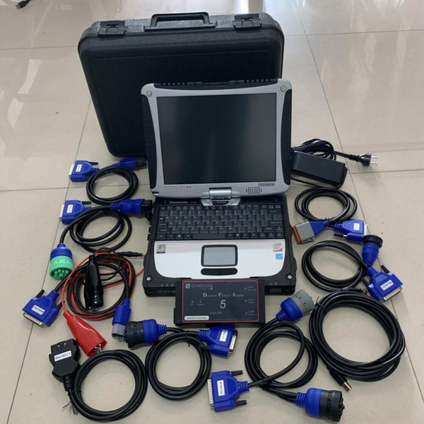 Dpa5 Usb Diesel Truck Diagnostic Scanner With Laptop Cf19 Toughbook Touch  Screen Full Set Heavy Duty 2 Years Warranty Automotive Diagnostics Tools