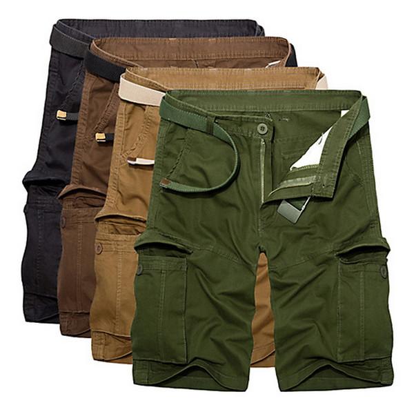 Pantalones cortos de verano para hombre de marca 2019 para hombre pantalones cortos de algodón para hombres de carga sueltos us ejército pantalones cortos hombre