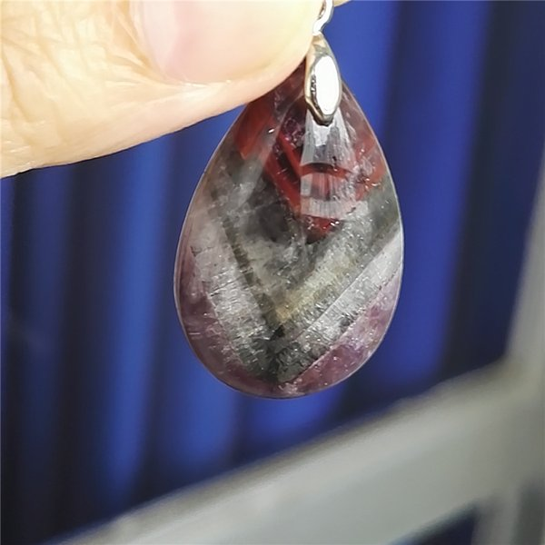 Genuine Natural Auralite 23 Gems Stone Necklace Crystal Water Drop Bead Pendant Drop Shipping 32x20x9mm