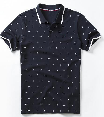 Life High Quality Мужчины Деловые Рубашки Поло Американская Мода Мужской Повседневная Поло С Коротким Рукавом Спортивная Рубашка Гольф Белый Черный