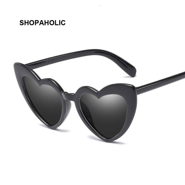 Coração Sunglasses Mulheres Marca Designer Cat Eye Sun Óculos Feminino retro do amor do coração Shaped Glasses Ladies compras UV400
