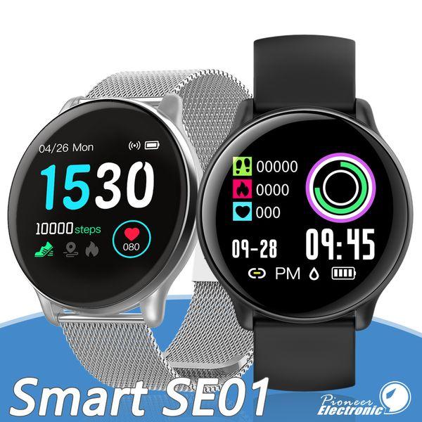 SE01 Смарт Браслет SmartWatch Смарт часы Bluetooth Музыка IP68 Waterproof Caller SMS Дисплей для Android iPhone Часы смартфон