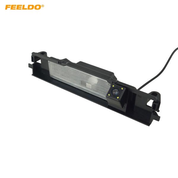 FEELDO Toyota Yaris Için LED ile Araç Arka Görüş Kamerası / Belta XP90 (05 ~ 13) Hatchback 5-door Yedekleme Park Kamera # 5924