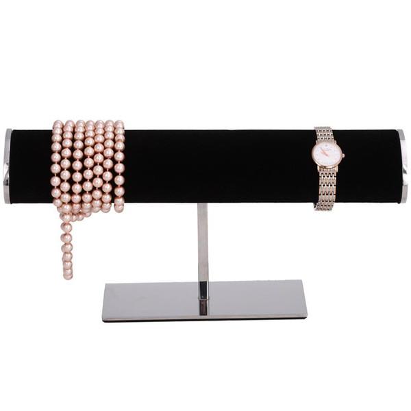 Hochwertiger Boutique Edelstahl Armband Display Rack Halskette Uhr Schmuckständer Uhr Ständer Lagerung Hängen Haken