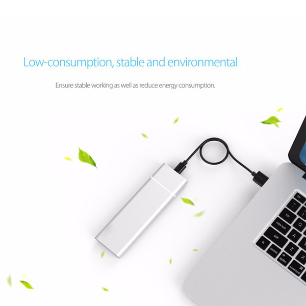 top popular M.2 NGFF to USB3.1 SSD Solid State Aluminum Alloy Mobile Hard Disk Box Adapter Card External Enclosure 2019
