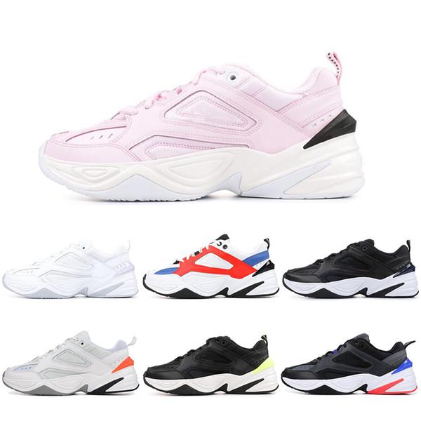 Compre Nike Air Monarch The M2K Tekno Hombres Mujeres Zapatillas Deportivas M2K Zapatos De Senderismo Rosa Negro Blanco Monarca Tekno Papá Zapatos