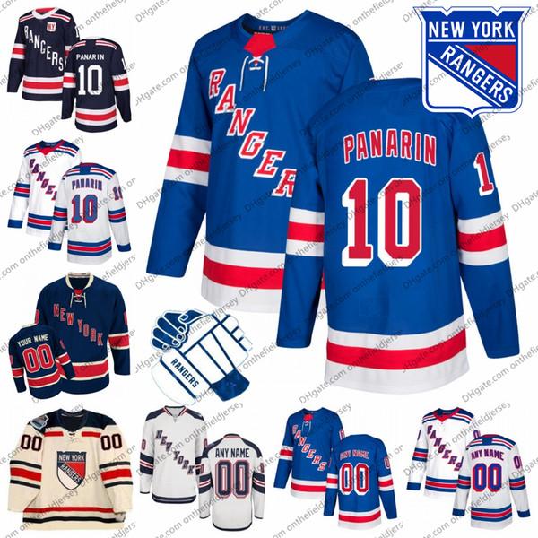 Personalizados New York Rangers 10 Artemi P 45 Kaapo Kakko 76 Brady Skjei 17 Jesper Fast 30 Henrik Lundqvist Qualquer Nome Número NYR