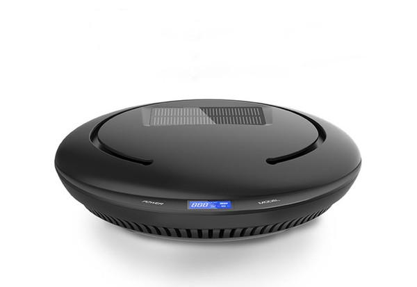 Purificador de aire solar para autos, mini ambientador portátil de viaje USB de aire, purificador de aire multifunción para eliminar el humo del cigarrillo, olor a olor