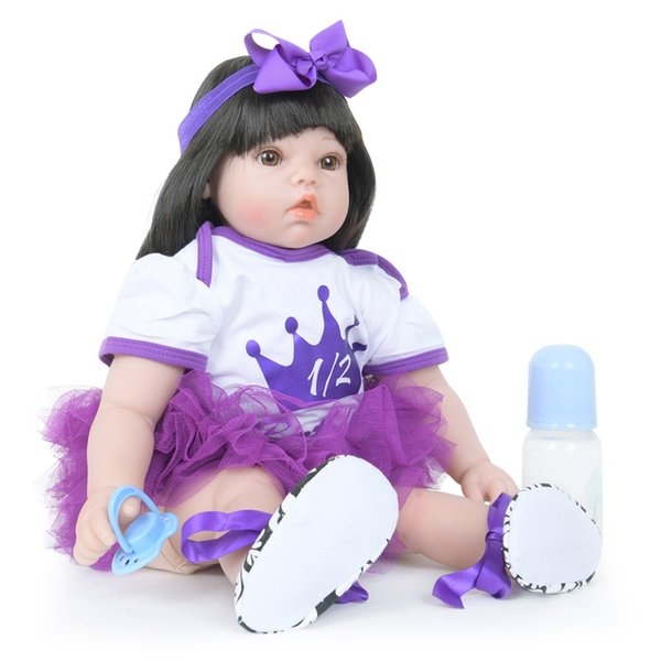 New Fashion WW - 906 Beautiful Girl Humanoid Cloth Silicone Doll Simulation Soft Toy For Children Birthday Gift