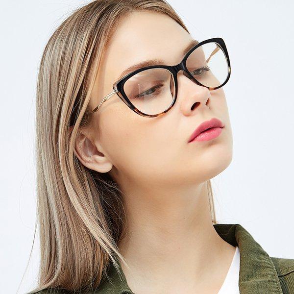 Klasik Kadınlar Kedi Göz Gözlük Çerçeve Moda Bayanlar Okuma Gözlükleri Reçete Gözlükler Çerçeve Optik Gözlük