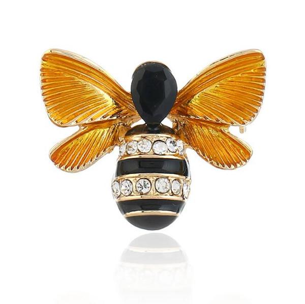 Dreidimensionale Biene Kleidung Brosche Retro Tropf dreidimensionale Insekt Pin Mode Pullover Accessoires Damen Boutique Schmuck Pins
