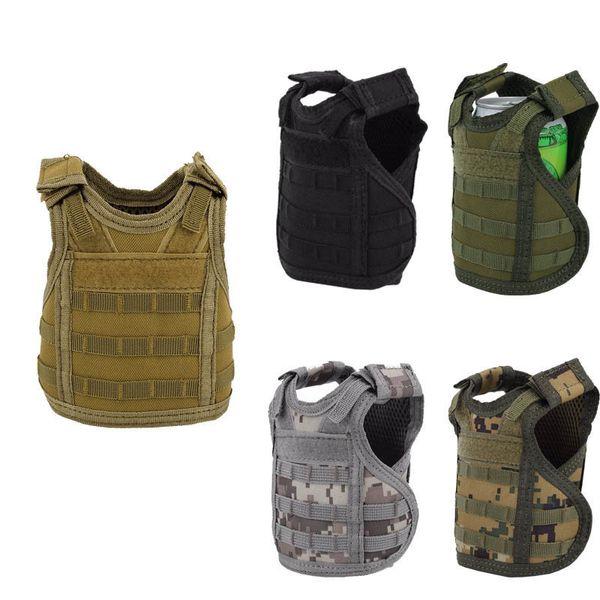 5style Tactical Layer Military Beer Mini Molle Vest Hunting Bottle Drink Set Adjustable Shoulder Straps C19041501