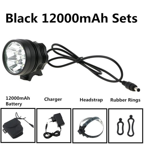 8,4V Bright 7XCREE T6 LED Luci per bicicletta 3 modalità fari fendinebbia anteriori per bici Bike Light con caricabatteria 18650