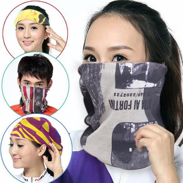 Sihirli başörtüsü açık sürme spor yüksek elastik güneş kremi dikişsiz önlüğü sihirli Variety eşarp