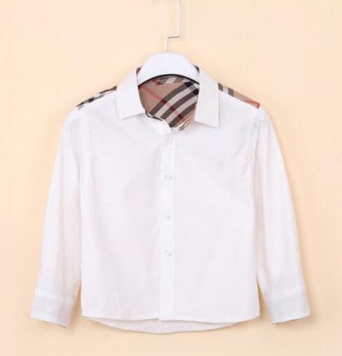 meihao3821 / 2018 roupas infantis cor sólida camisa novos estilos do bebê meninos lapela vento bebê crianças casuais camisas de manga longa frete grátis