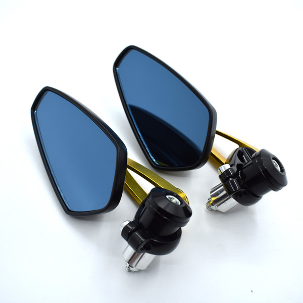 "For Universal 7/8"" Black Bar End Rear Mirrors Moto Motorcycle Motorbike Scooters Rearview Mirror Side View Mirrors FOR YZF R1 R3 R6"