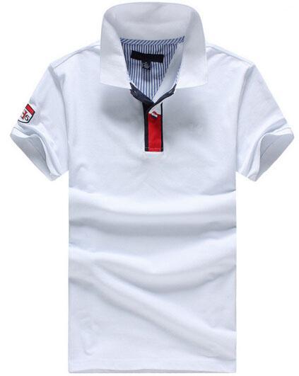 Fournir mode américaine hommes solide polo coton de haute qualité coton été printemps classique polos occasionnels nautica tshirt blanc bleu gris