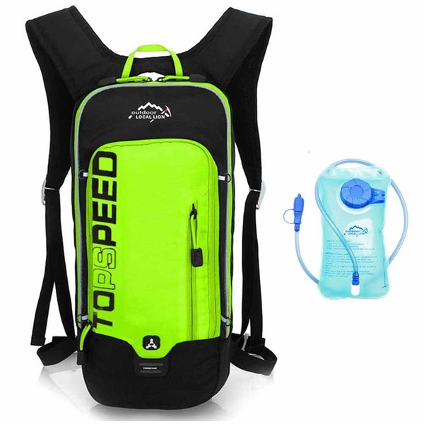 Green with water bag