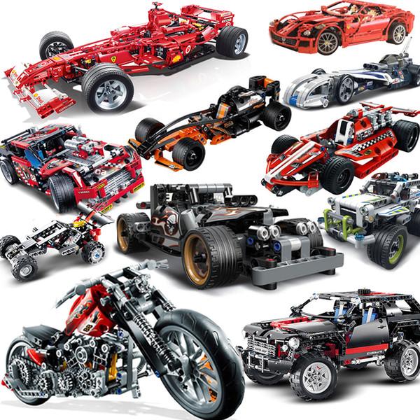 best selling City Compatible legoed technic Motorcycle moto motor car racing Motorbike truck F1 sets Building Blocks models bricks kid toys