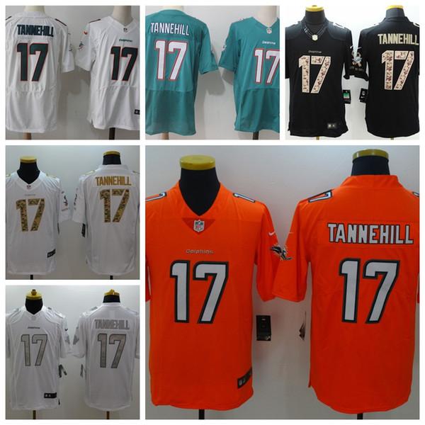 2019 Nova Mens 17 Ryan Tannehill Jersey Miami Dolphins Futebol Jersey 100%  Bordado Costurado Ryan e5f0e54b43c20