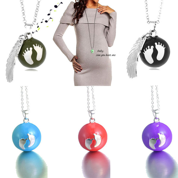 Fashion Mexican Prenatal Music Bells Angel bola Baby ankle Pendant Necklace Jewelry Gifts for women