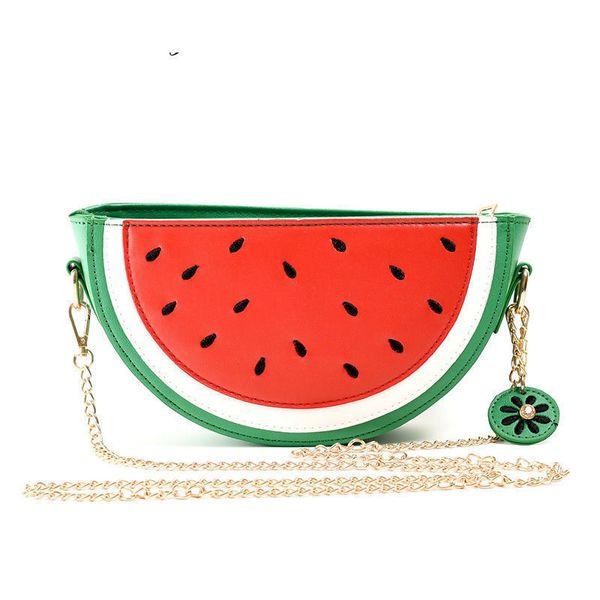 good quality Fashion Women Handbags Fruit Bag Watermelon Orange Bag Pocket Lemon Shoulder Bags Chain Cartoon Crossbody Bags