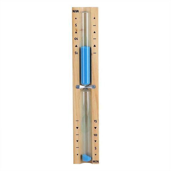 15 Минутный таймер Сауна Песочные часы настенные Вращающийся Песочный таймер обратного отсчета часы 15 минуту (синий)