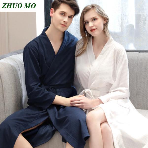 Couple Bathrobes bath towel bathroom Women Men Sexy Kimono Bath Robe Plus Size Dressing Gown Bridesmaid Robes Wedding gift