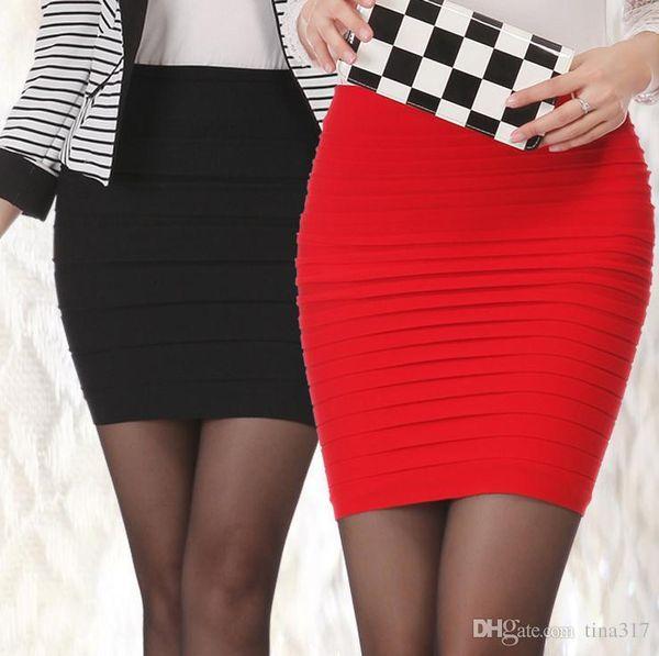 Womens Mini skirt new high waist short Skirt work formal A line Stretch club wear skrits pencil Casual Skirts for woman