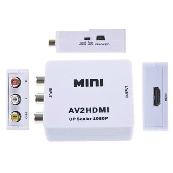 2019 Newest hdmi transmitter Mini AV to HDMI Video Converter Box RCA AV CVBS to HDMI Adapter for HDTV TV