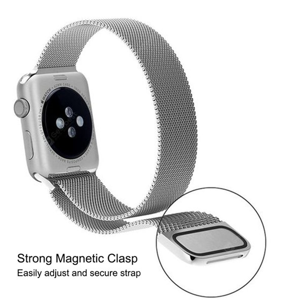 Brand new Magnets Milanese Loop Mesh Metal Replacement Strap Compatible for apple Watch Clasp Watchband fast shipping