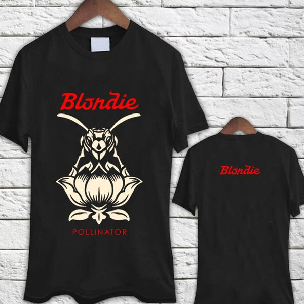 Blondie Rock Band Polinizador Capa Álbum Preto Camiseta Camiseta Legal Casual orgulho t shirt homens Unisex Nova Moda