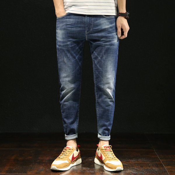 Mens Jeans Homme Men'S Classic Skinny Salopette Masculina Militar Pantalon Pants Biker Hip Hop Pantalones Vaqueros Hombre